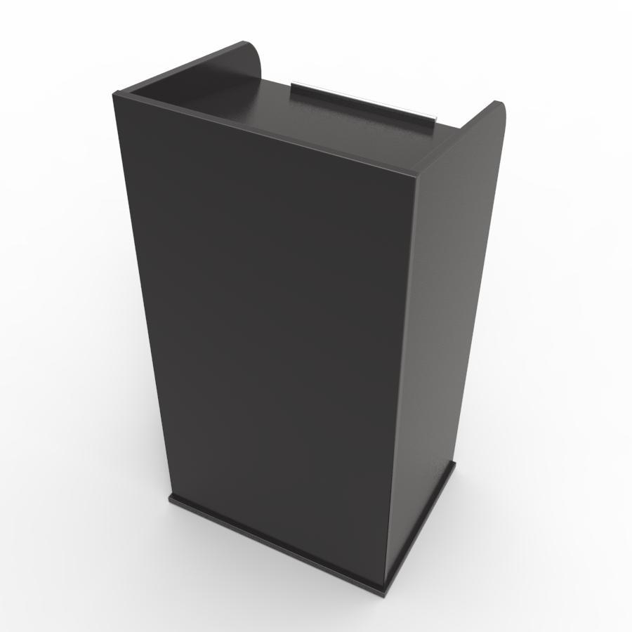 Pupitre de conférence en bois noir pour entreprises, associations, écoles, universités