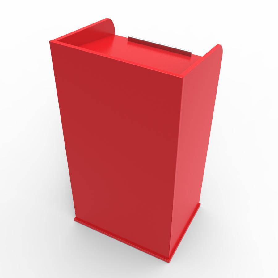 Pupitre ceremonie rouge destiné à des structures d'entreprise ou collectivité