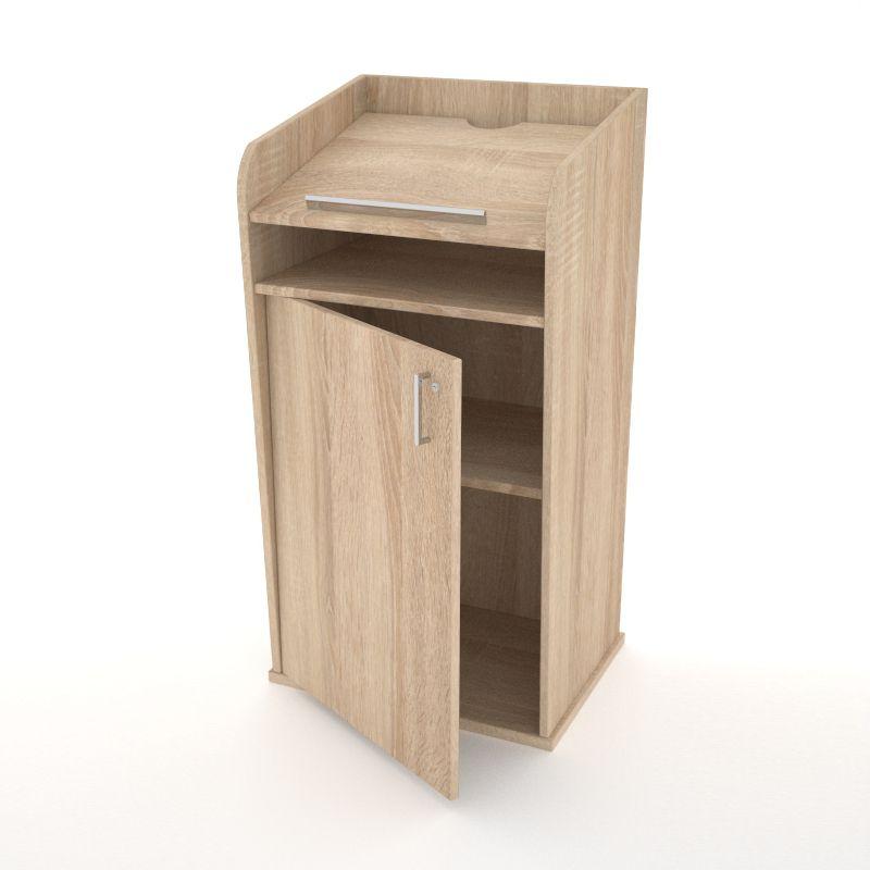 Pupitre de conférence en bois chêne disponible en divers coloris au choix pour des entreprises et associations / collectivités