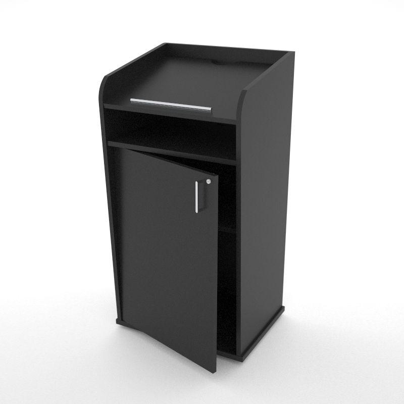 Pupitre de conférence en bois noir disponible en divers coloris au choix pour des entreprises et associations / collectivités