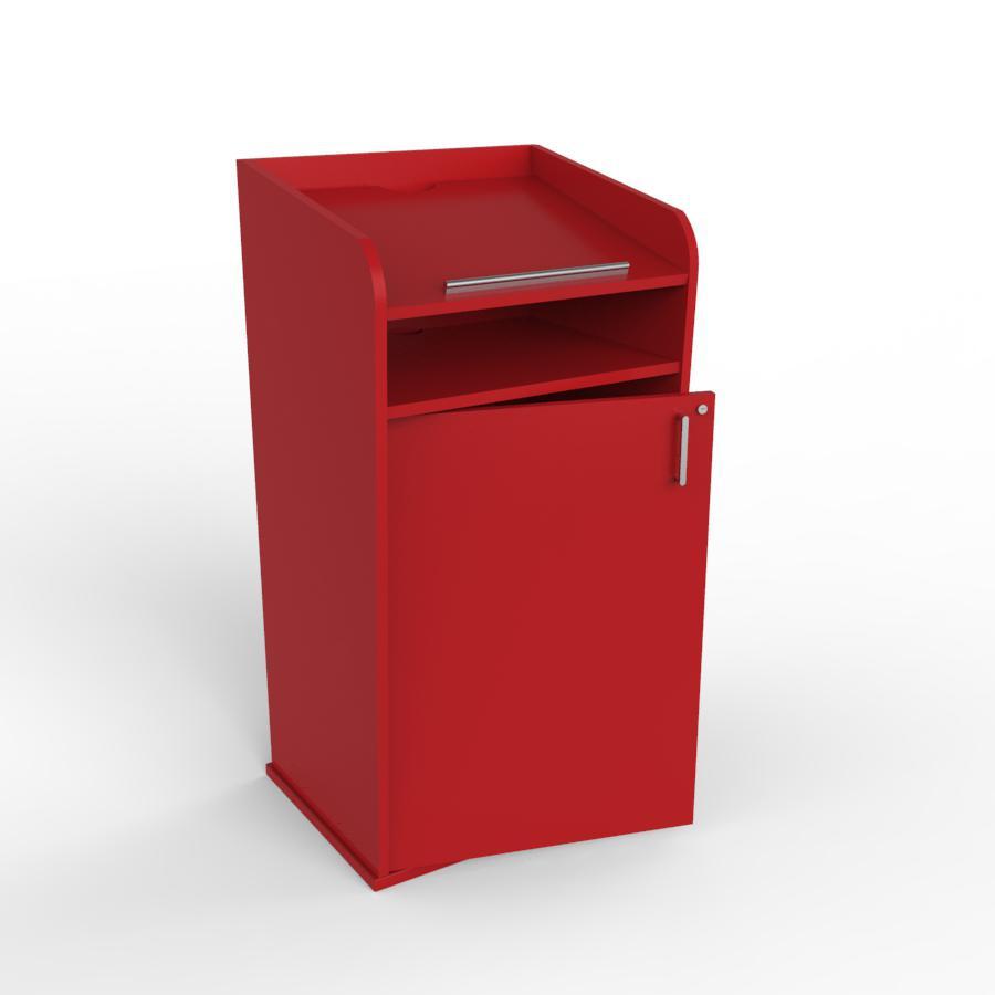 Pupitre de conférence en bois rouge disponible en divers coloris au choix pour des entreprises et associations / collectivités