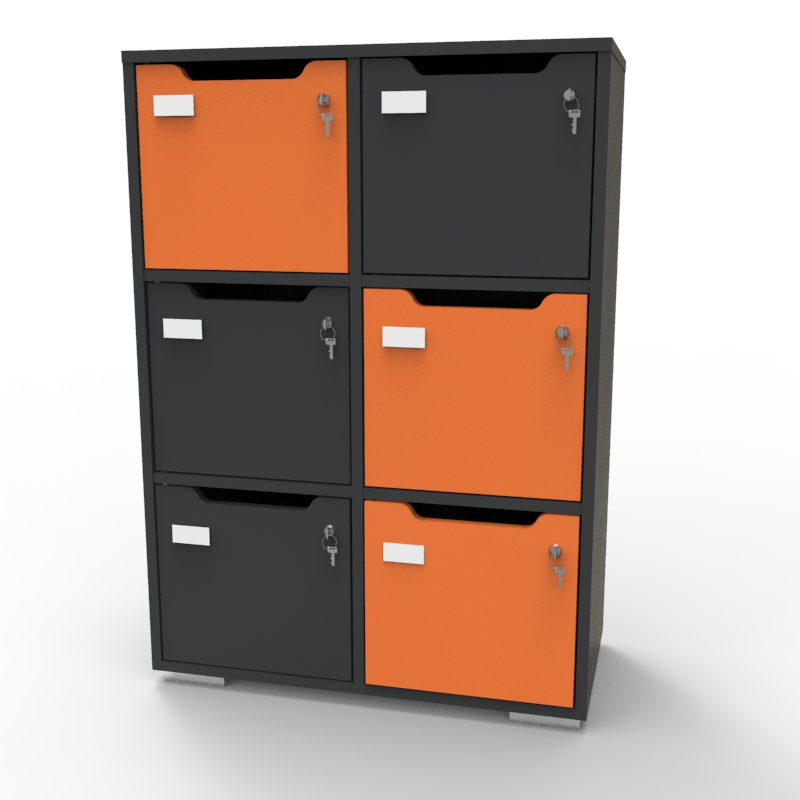 Casier de rangement CASEO graphite orange
