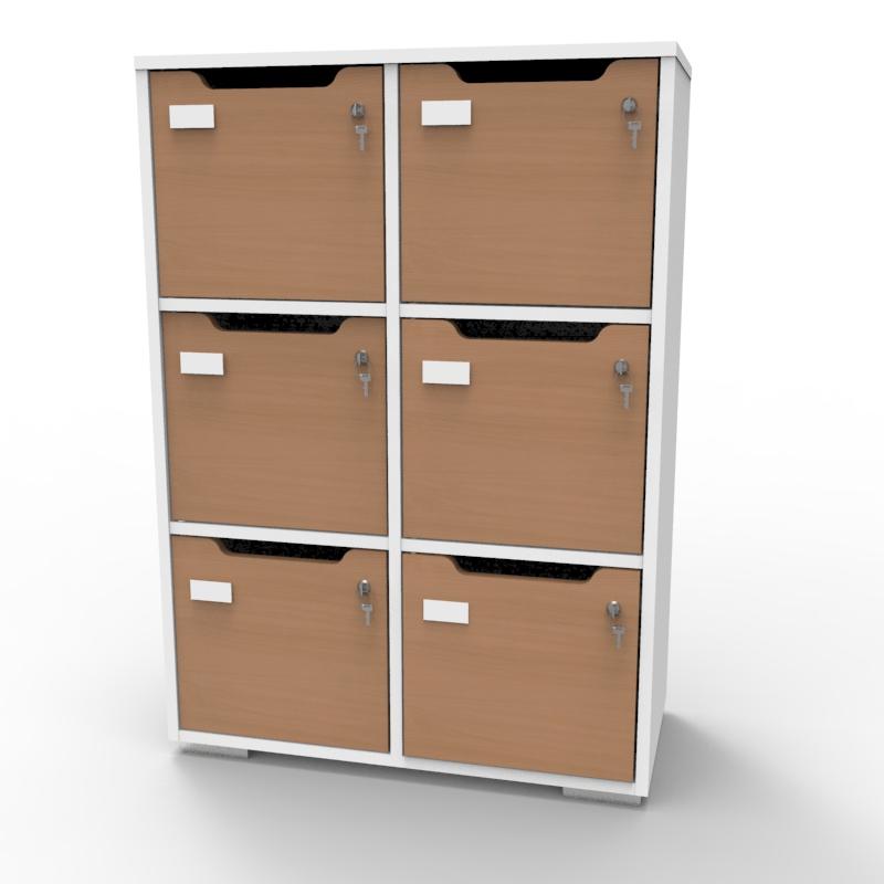 Meuble de rangement en bois blanc-hêtre de qualité pour entreprise, association, école, université, collectivité