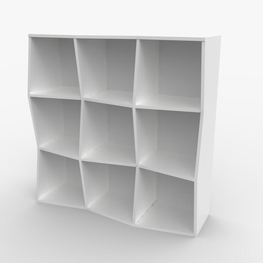 Étagère murale bois en blanc composé de 9 cases et disponible en plusieurs formats et coloris au choix idéal pour les entreprises et associations / chr