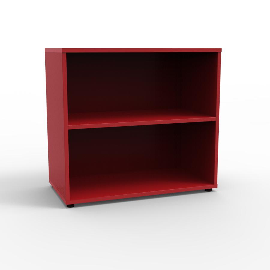 Meuble de rangement bois design pour rangement bureau for Meuble bureau rouge