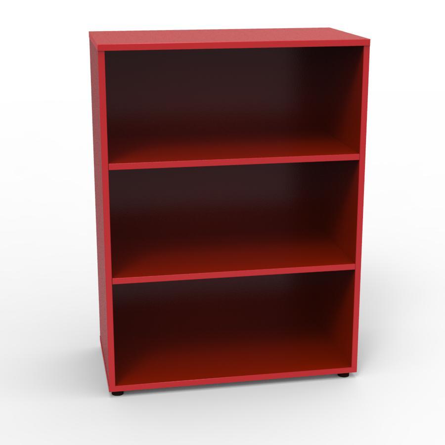Armoire rangement rouge convenant pour de l'archivage ou du classement de classeurs ou documents