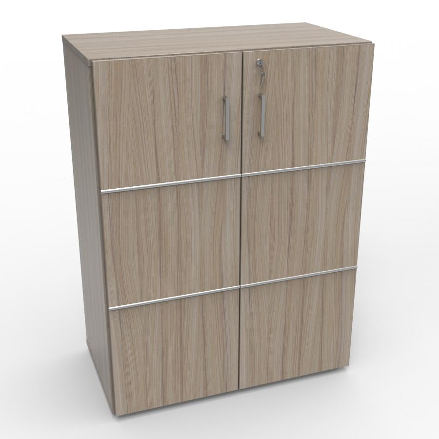 Meuble rangement avec serrure driftwood blanc pour entreprise, archive bureau