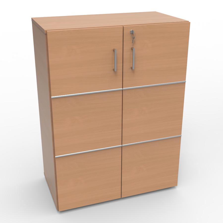 Meuble rangement avec serrure bois hêtre pour entreprise, archive bureau