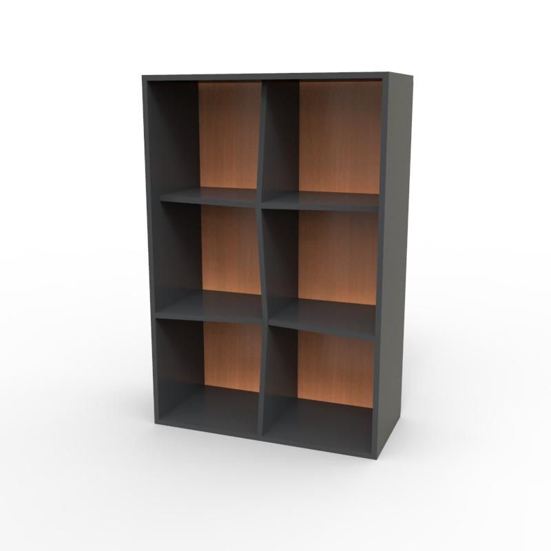 Meuble de rangement avec étagères en bois