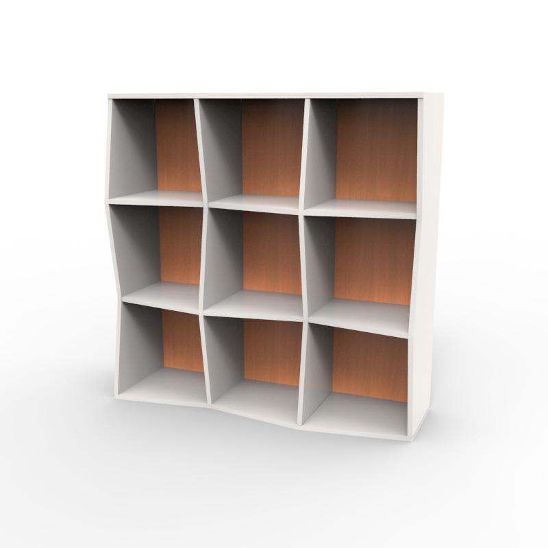 Meuble rangement ouvert avec étagère bois et coloris disponibles