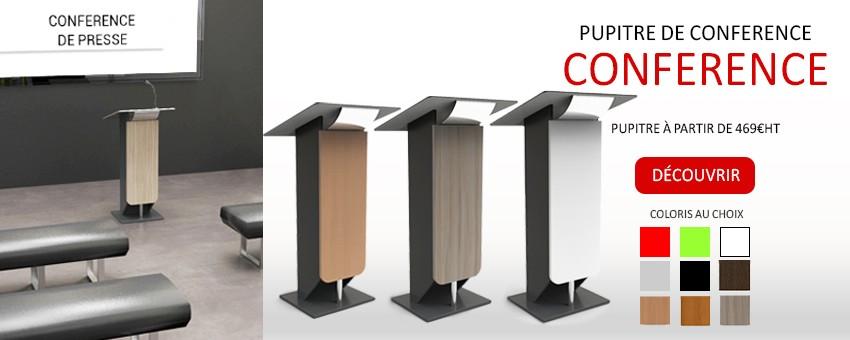 Mobilier pour espace conférences, salle de réunion vente au professionnel fabrication France