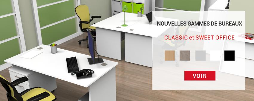 Bureaux en bois fabriqués en france et convenant pour une entreprise / école / espace de coworking avec salle de réunion