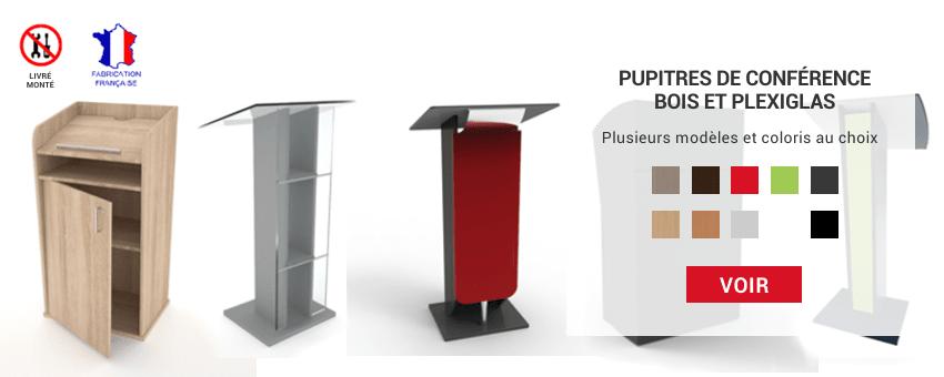 Pupitres pour conférence en bois et / ou plexiglas idéal pour discours et cérémonie